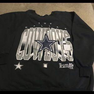 Dallas Cowboys Black Crewneck Sweater XXL